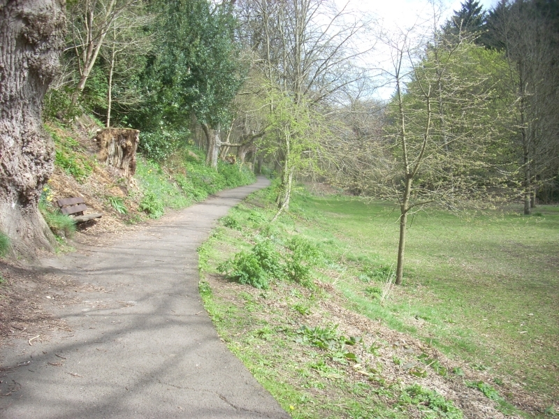 Lade Braes, site of old skating pond