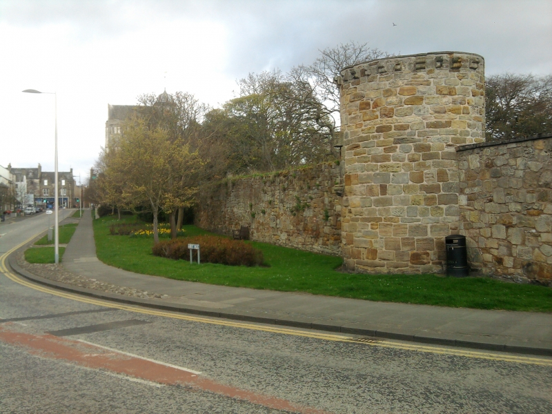 Abbey wall at Abbey Street
