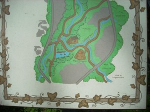 Lade Braes map sign